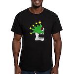 Malinalco - Jester Skull Men's Fitted T-Shirt (dar