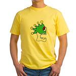 Malinalco - Jester Skull Yellow T-Shirt