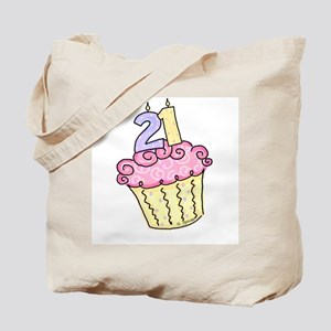 21st Birthday Cupcake Tote Bag
