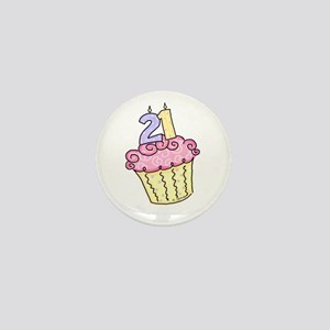 21st Birthday Cupcake Mini Button