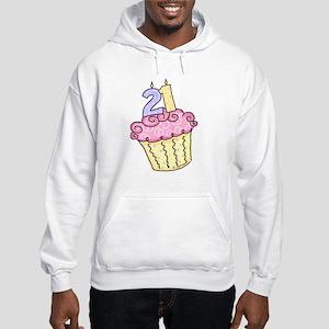 21st Birthday Cupcake Hooded Sweatshirt
