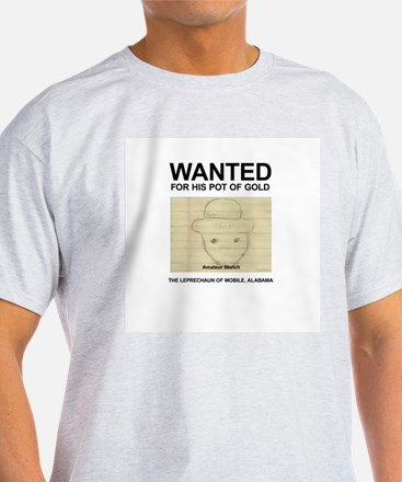The Original Wanted Leprechaun Ash Grey T-Shirt