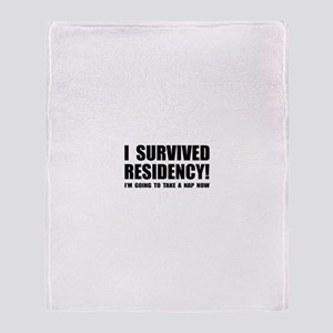 Residency Survivor Throw Blanket