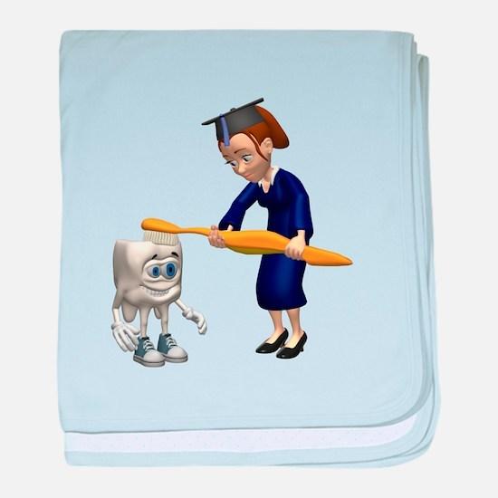 Dental Hygiene Graduation baby blanket