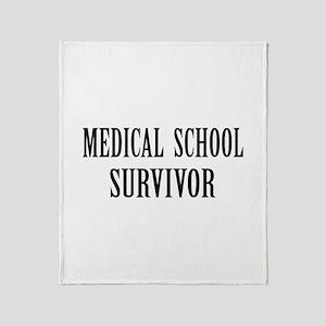 Survived Med School Throw Blanket