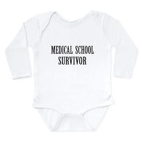 Survived Med School Long Sleeve Infant Bodysuit