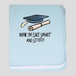 Smart Funny Grad baby blanket