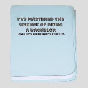 Bachelor science graduation baby blanket
