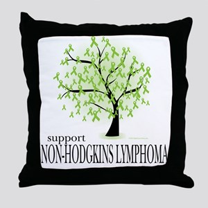 Non-Hodgkins Lymphoma Tree Throw Pillow