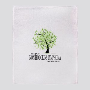Non-Hodgkins Lymphoma Tree Throw Blanket