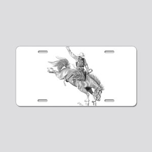 Bronco Rider Aluminum License Plate
