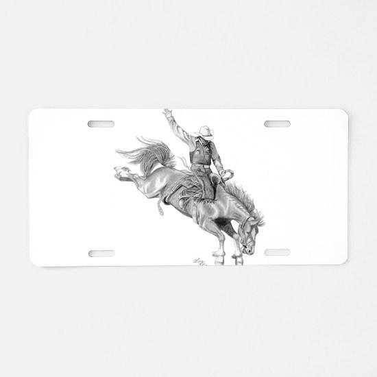 Bronco Rider Aluminum License Plate
