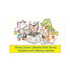 Library Cat 4 Schools 38.5 x 24.5 Wall Peel