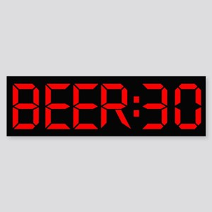 The Time is Beer:30 Sticker (Bumper)