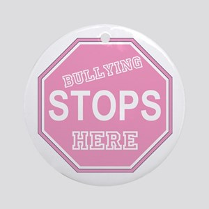Bullying Stops Here Ornament (Round)