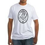 Abstract Masonic Working Tools Fitted T-Shirt