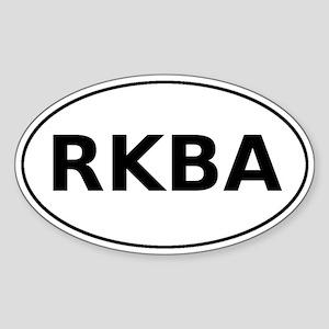RKBA Oval Sticker