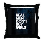 Real Men Throw Pillow