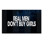 Real Men Sticker (Rectangle)