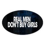 Real Men Sticker (Oval 10 pk)