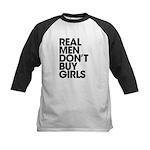 Real Men Kids Baseball Jersey