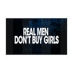 Real Men 38.5 x 24.5 Wall Peel