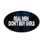 Real Men 22x14 Oval Wall Peel