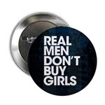 """Real Men 2.25"""" Button (10 pack)"""