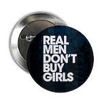 """Real Men 2.25"""" Button"""