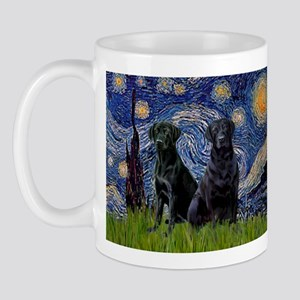 Starry Night & Black Labrado Mug