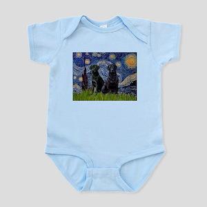 Starry Night & Black Labrado Infant Bodysuit