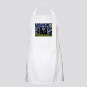 Starry Night & Black Labrado BBQ Apron
