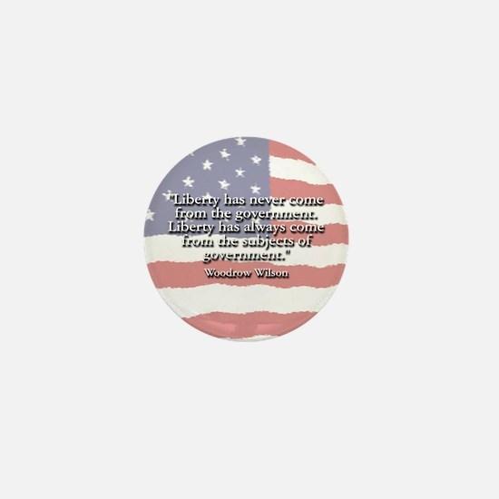 Woodrow Wilson Liberty and Govt Mini Button