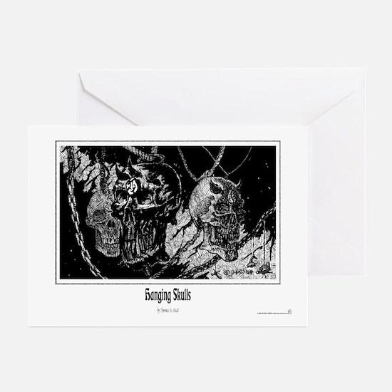 Hanging Skulls Greeting Cards (Pk of 10)