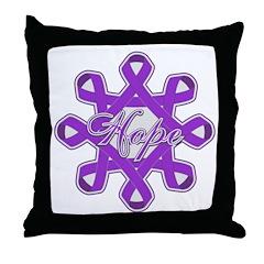 Pancreatic Cancer Ribbons Throw Pillow