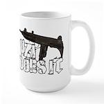 Uzi Does It Large Mug