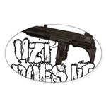 Uzi Does It Sticker (Oval 50 pk)