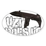 Uzi Does It Sticker (Oval)