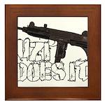 Uzi Does It Framed Tile