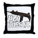 Uzi Does It Throw Pillow