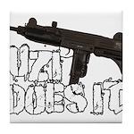Uzi Does It Tile Coaster