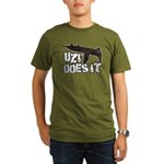 Uzi Does It Organic Men's T-Shirt (dark)