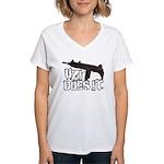 Uzi Does It Women's V-Neck T-Shirt