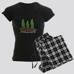 Peas on Earth Women's Dark Pajamas