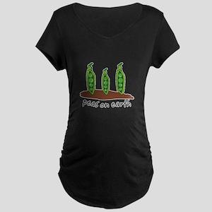 Peas on Earth Maternity Dark T-Shirt