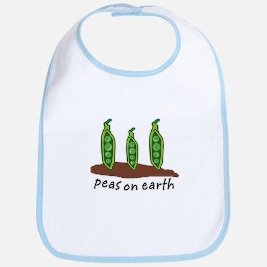 Peas on Earth Bib