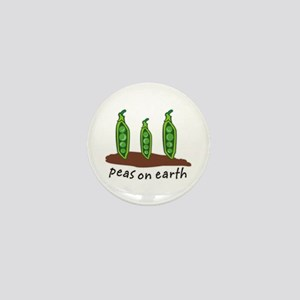Peas on Earth Mini Button