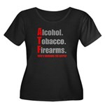 ATF Humor Women's Plus Size Scoop Neck Dark T-Shir