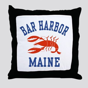 Bar Harbor Maine Throw Pillow