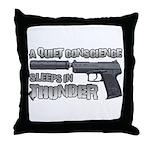 HK USP Handgun Silencer Throw Pillow